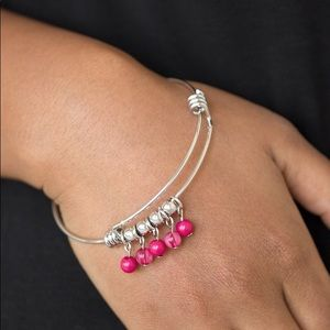 "New! Paparazzi ""Roads Lead To Roam"" Pink Bracelet"